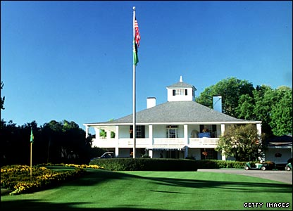 The Augusta National clubhouse