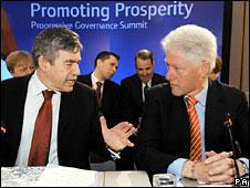 Gordon Brown and Bill Clinton