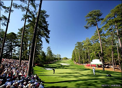 The 10th green at Augusta National