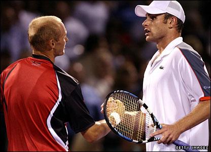 Nikolay Davydenko and Andy Roddick