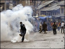 Rioting in Srinagar
