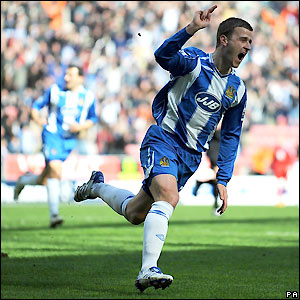 Ryan Taylor celebrates his goal