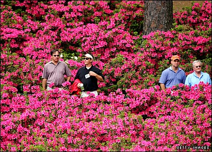 Riotous colour at the Augusta National