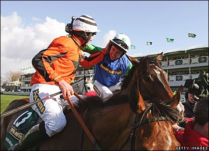 Davy Russell (left), Timmy Murphy (right)