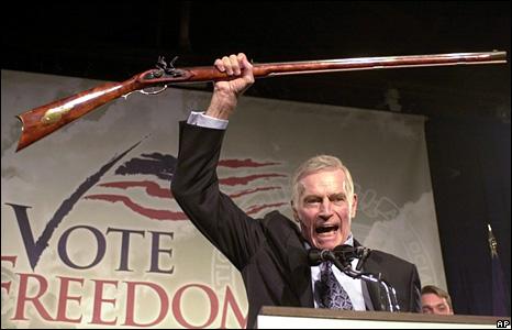 Charlton Heston in 2002
