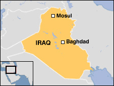 Map showing Mosul