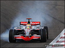 Lewis Hamilton's McLaren in the Bahrain Grand Prix