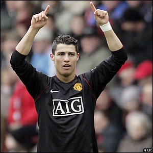 Ronaldo celebrates his 10th-minute goal