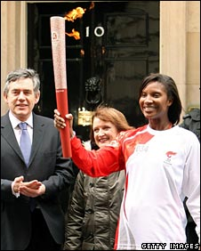 Gordon Brown, Tessa Jowell and Denise Lewis