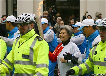 The Chinese ambassador carries the torch