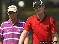 Padraig Harrington and Justin Rose