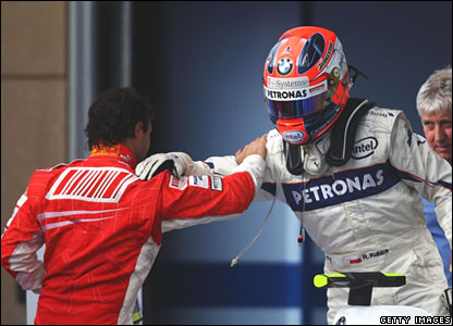Felipe Massa (left), Robert Kubica (right)