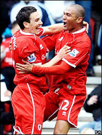 Stewart Downing (left) and Afonso Alves (right)
