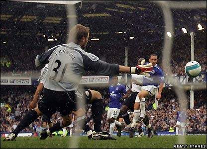 Osman scores for Everton