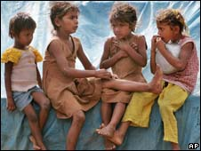 Poor children in India