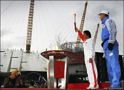 Holmes completes the Olympic torch relay