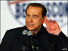 Silvio Berlusconi at election rally in Palermo - 6/4/2008