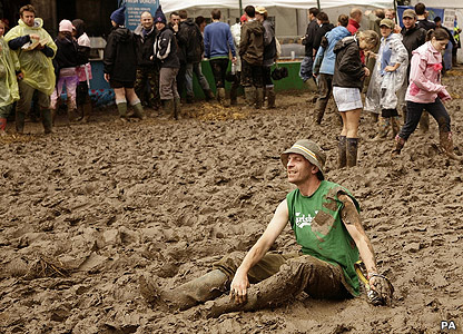 Man sitting in the mud