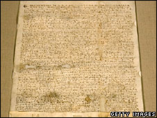The copy of a 1297 version of Magna Carta auctioned in the US