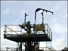 Oil platform in Nigeria