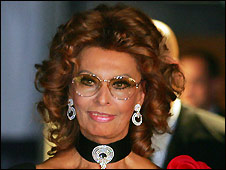 Sophia Loren at launch of MSC Poesia