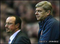 Rafael Benitez (left) and Arsene Wenger