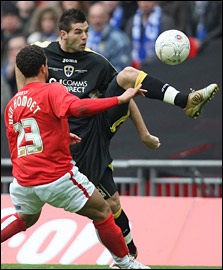 Joe Ledley's ninth-minute goal against Barnsley booked Cardiff's FA Cup final place