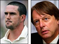 Kevin Pietersen and Giles Clarke