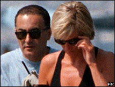 Princess Diana and Dodi Al Fayed on holiday