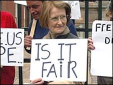 Josephine Rooney in an earlier protest