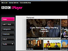 A screen grab of the BBC iPlayer website