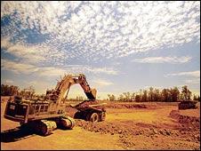 A bauxite mine in Western Australia