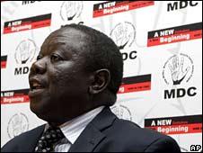 MDC leader Morgan Tsvangirai