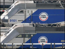 Eurotunnel trains