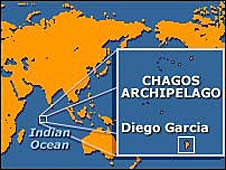 Map of Chagos islands