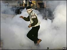 Protester in industrial city of Mahalla al-Kubra in Egypt
