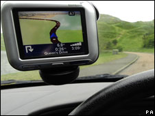 A TomTom satellite navigation system