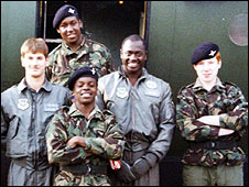Shaun Bailey as a Cadet