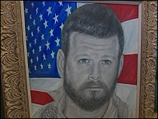 Portrait of deceased US special forces soldier, Robert Horrigan