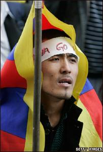 Manifestante en París