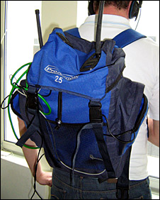Radio transmitter backpack
