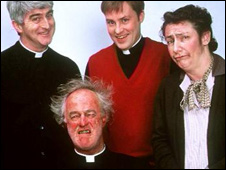 The cast of Father Ted (Pic: Channel Four)