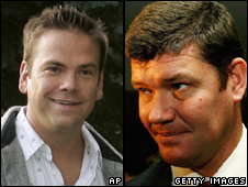 Lachlan Murdoch (L) and James Packer