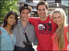 Presenters Konnie Huq, Matt Baker, Gethin Jones and Zoe Salmon