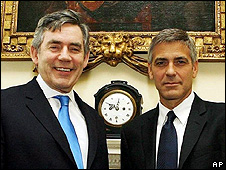 Gordon Brown and George Clooney
