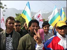 Royalists canvassing in Nepali elections