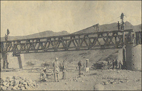 British built bridge in Waziristan