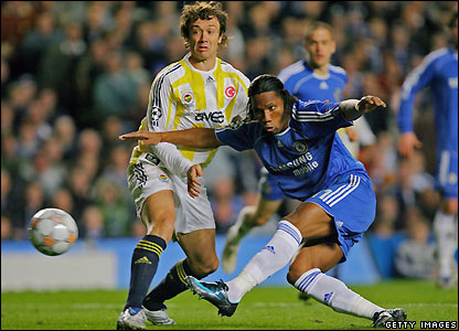 Drogba shoots for Chelsea