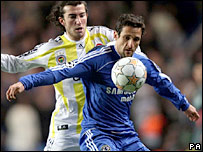 Chelsea defender Juliano Belletti