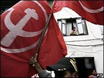 Maoists campaign in Katmandu on 6 April